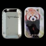 Badge rectangle panda roux